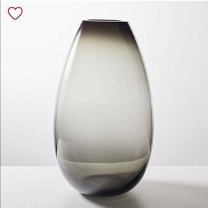 West Elm Smoke Glass Foundation Vase